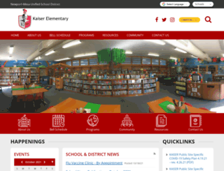 kaiser.schoolloop.com screenshot