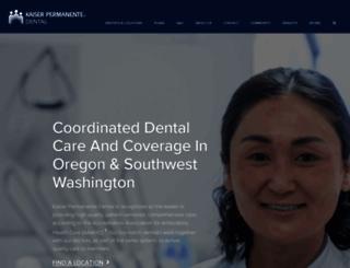 kaiserpermanentedentalnw.org screenshot