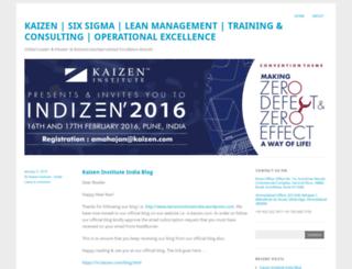 kaizeninstituteindia.wordpress.com screenshot