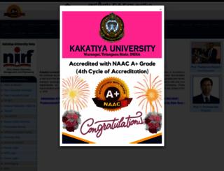 kakatiya.ac.in screenshot