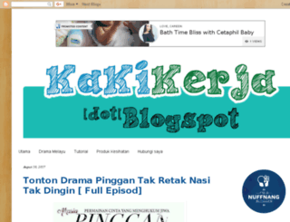 kakikerja.blogspot.com screenshot