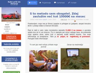 kako-zasluziti-denar.com screenshot