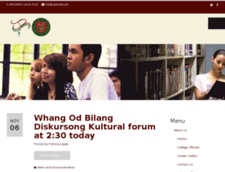 kal.upd.edu.ph screenshot
