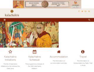 kalachakra.in screenshot