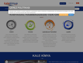 kalekimya.com screenshot