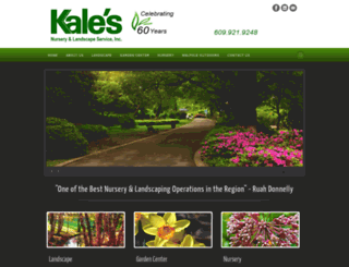 kalesnursery.com screenshot