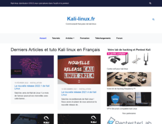 kali-linux.fr screenshot