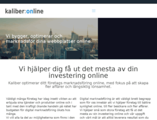 kaliberonline.se screenshot
