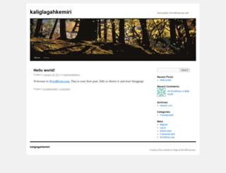 kaliglagahkemiri.wordpress.com screenshot