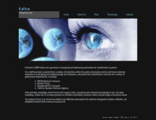 kalisa.co.uk screenshot
