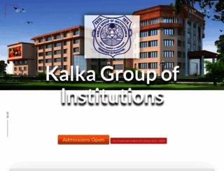 kalkaeducationalsociety.com screenshot