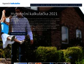 kalkulackahypoteka.cz screenshot