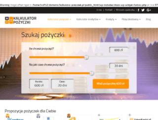 kalkulator-pozyczek.pl screenshot