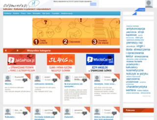 kalkulator.odpowiedz.pl screenshot
