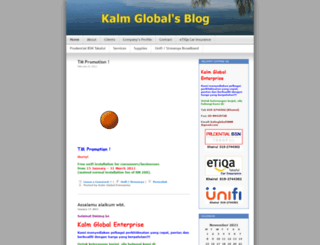 kalmglobal.wordpress.com screenshot