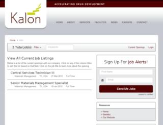 kalonbio.applicantpro.com screenshot