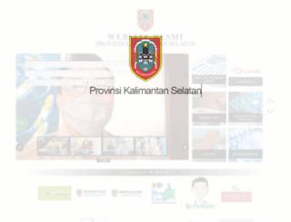 kalselprov.go.id screenshot
