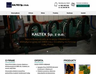kaltex.klimatyzacja.biz screenshot