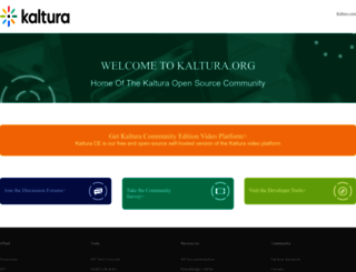 kaltura.org screenshot
