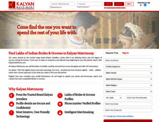 kalyanmatrimony.com screenshot