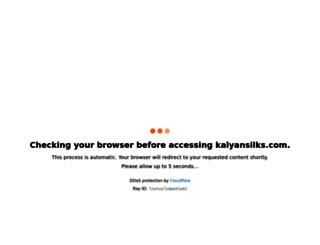 kalyansilks.com screenshot