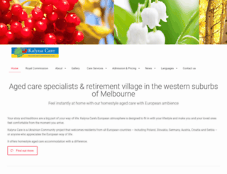 kalynaagedcare.com.au screenshot
