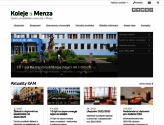 kam.czu.cz screenshot