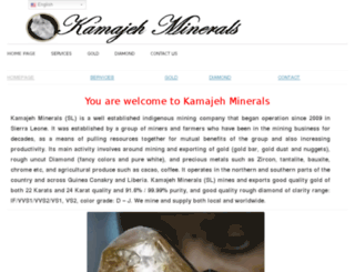 kamajehminerals.com screenshot