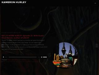 kameronhurley.com screenshot