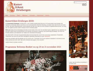 kamerorkestdriebergen.nl screenshot