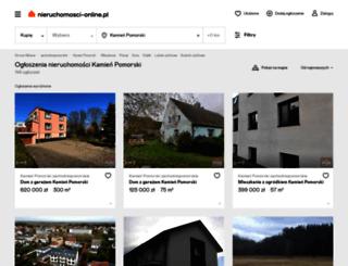 kamien-pomorski.nieruchomosci-online.pl screenshot