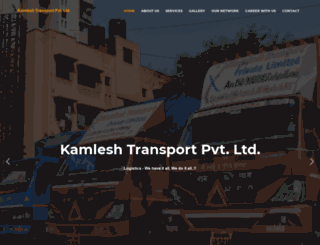 kamleshtransport.com screenshot