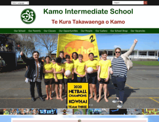 kamoint.school.nz screenshot