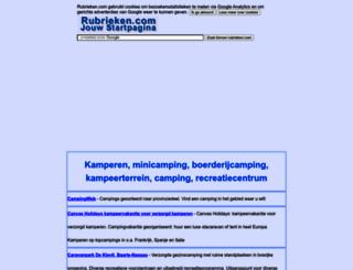 kamperen.rubrieken.com screenshot