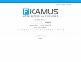 kamus.flairwork.com screenshot