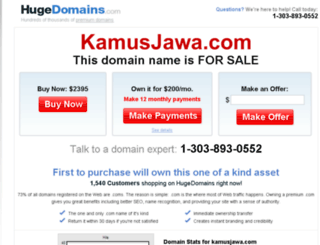 kamusjawa.com screenshot