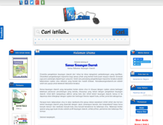 kamuskeuangandaerah.com screenshot