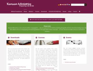 kanaanministries.org screenshot