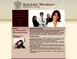 kancelariamalik.pl screenshot