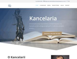 kancelariaprawapracy.com.pl screenshot