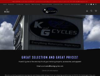 kandgcycles.com screenshot