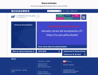 kandydat.us.edu.pl screenshot