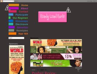 kandylandkurls.blogspot.com screenshot