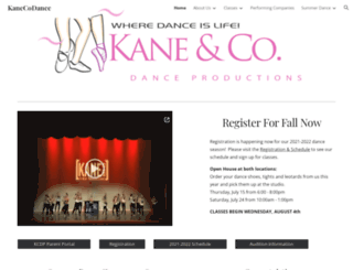 kanecodance.com screenshot