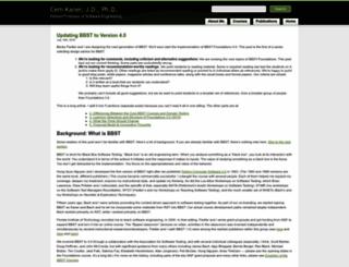 kaner.com screenshot