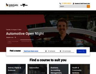 kangan.edu.au screenshot