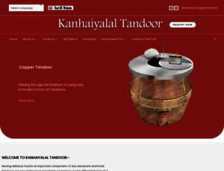 kanhaiyalaltandoor.com screenshot