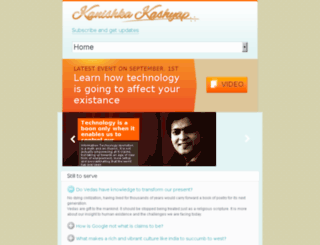 kanishkakashyap.com screenshot