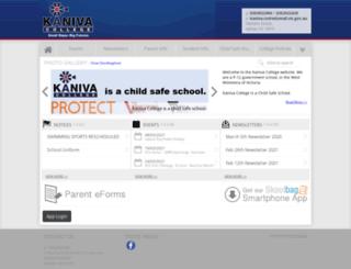 kanivacollege.vic.edu.au screenshot