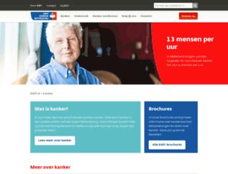 kanker.kwfkankerbestrijding.nl screenshot